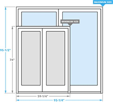 patio door sizes architect series sliding patio door pella