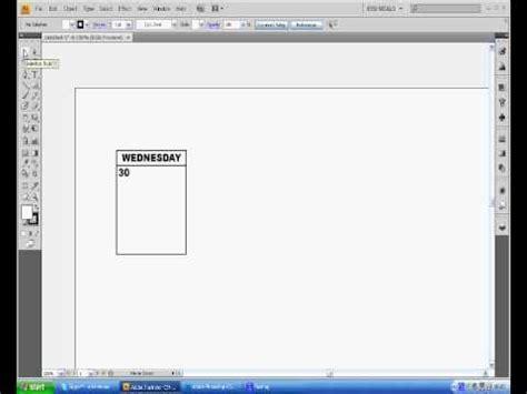tutorial illustrator cs4 adobe illustrator cs4 calendar tutorial youtube