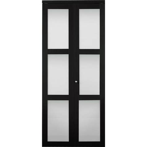 Frosted Glass Panel Interior Doors Truporte 30 In X 80 In 3100 Series 3 Lite Tempered Frosted Glass Espresso Composite Interior