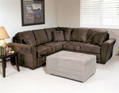 Serta Upholstery Rosa 2pc Sectional Sofa Padded Walnut