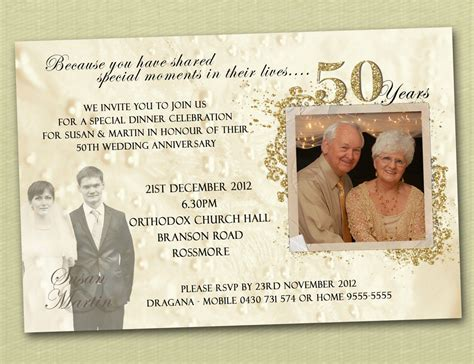Einladung Goldene Hochzeit Vorlage by Golden Wedding Anniversary Invitation Golden Wedding