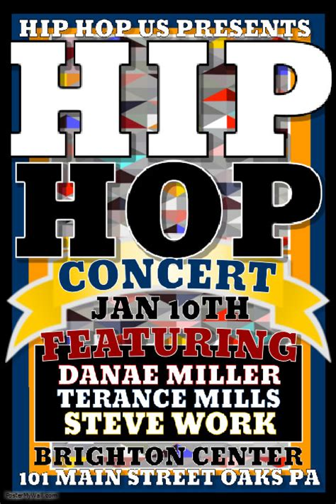 hip hop blogger templates hip hop concert template postermywall