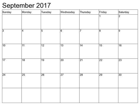 september 2017 calendar 2017 calendar template