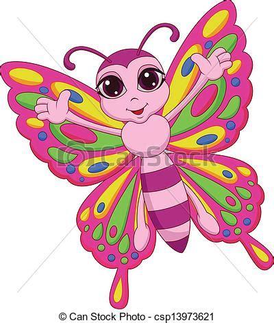 imagenes mariposas caricatura ilustraciones de vectores de mariposa lindo caricatura