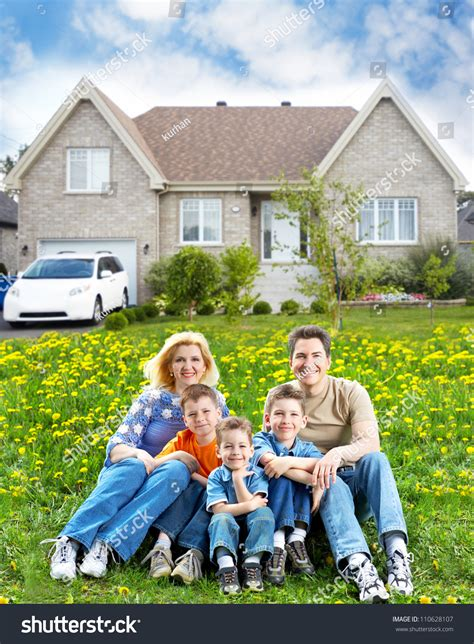 new house real estate happy family near new house real estate concept stock photo 110628107 shutterstock