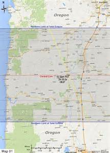 map of western oregon road atlas for the total solar eclipse of 2017