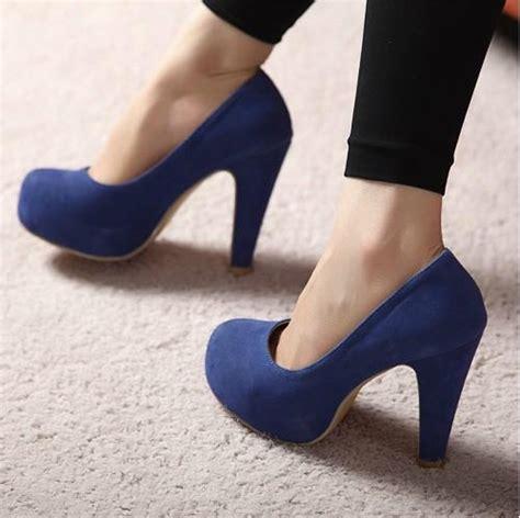 thick high heel pumps thick heel waterproof increased high heel pumps z0001 blue