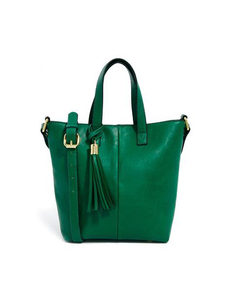 Stadivarius Mini Tote Bag asos mini tote bag with tassel detail in green lyst