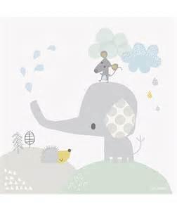 tableau deco elephant et souris