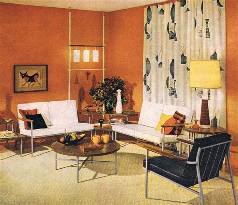 retro home interiors classic early 60 s living room mid century modern