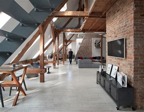 Open Floor Plans With Loft by Office Attic Converted Into Loft Apartment Keeping