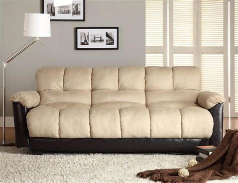 futon style sofa click clack beige futon sofa piper collection style 480mfr