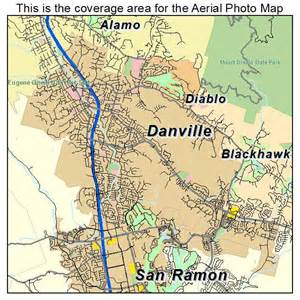 aerial photography map of danville ca california