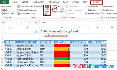 layout tren excel c 225 ch lọc dữ liệu trong excel