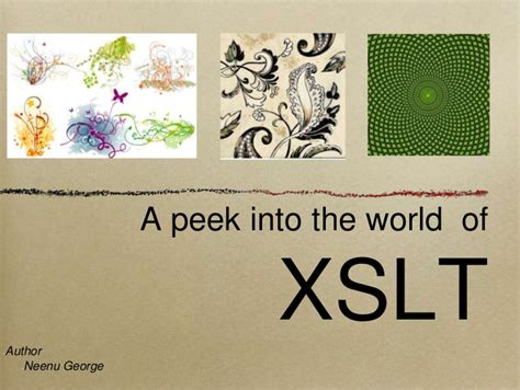 xslt tutorial xslt tutorial