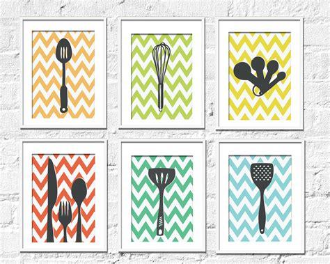 Etsy Kitchen Prints kitchen prints chevron kitchen set of 6 8x10 by texturedink