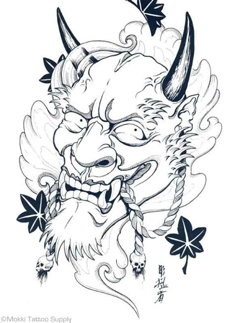 simple japanese tattoo designs 39 best hannya mask tattoos images on pinterest hannya