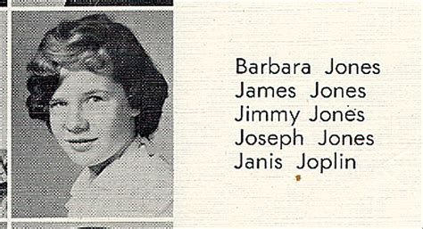 lot detail janis joplin  high school yearbook