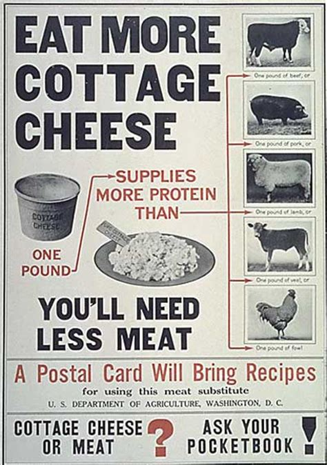 Cottage Cheese And Gas by Historical Photos Ww1 Propaganda Posters Go West