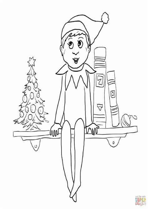 elf on the shelf coloring pages free az coloring pages