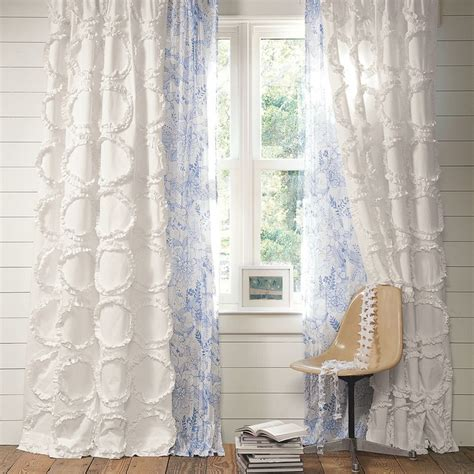 ruffled drapes beautiful drapery from pbteen convert a chenille spread
