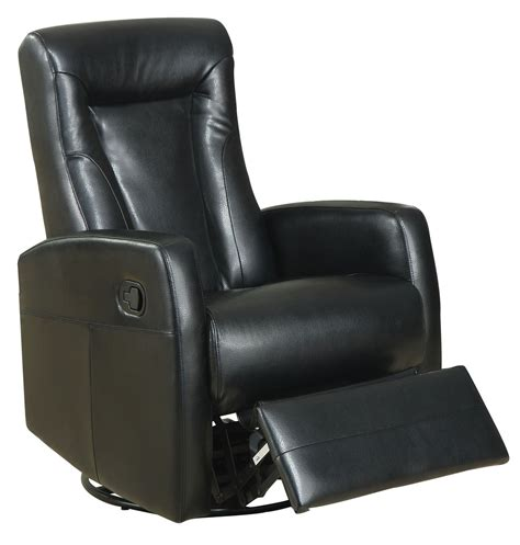 Black Recliner by Black Swivel Rocker Recliner 8082bk Monarch