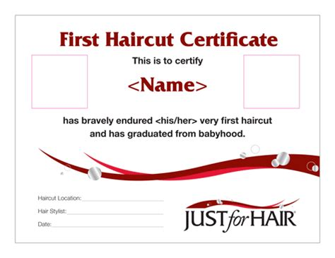 haircut coupons hilliard ohio baby s first haircut certificate life style by