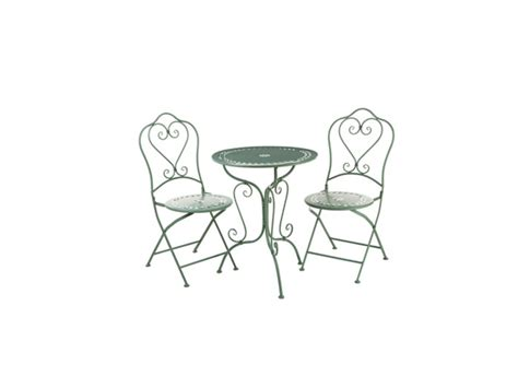 wrought iron folding table 3pc green wrought iron table set 1 table 2 folding chairs