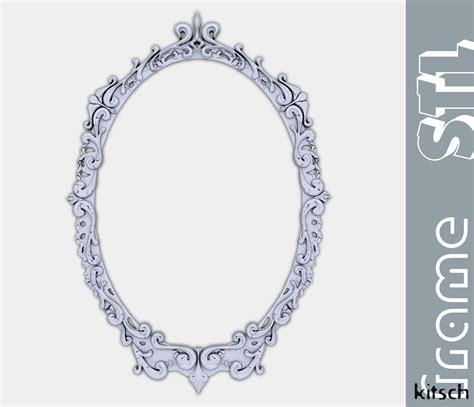 kitsch mirror frame stl 3d model 3d printable stl