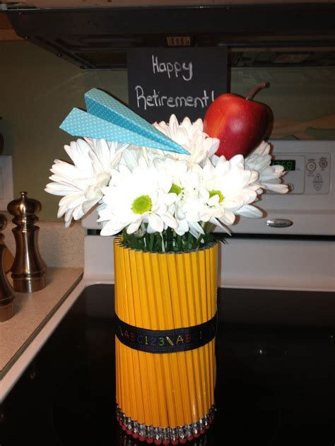 Teacher Retirement Gift Centerpiece Entertaining Retirement Centerpiece Ideas