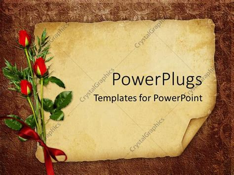 Powerpoint Template Vintage Background With Old Paper For Invitation Or Postcards With Three Powerpoint Announcement Templates