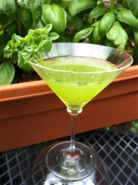martini basil muddled basil martini recipe food com