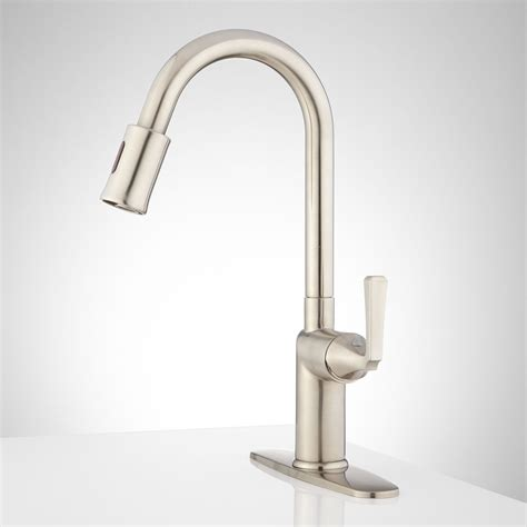 Top Rated Pull Down Kitchen Faucets by Signature Hardware Mullinax Touchless Kitchen Faucet With