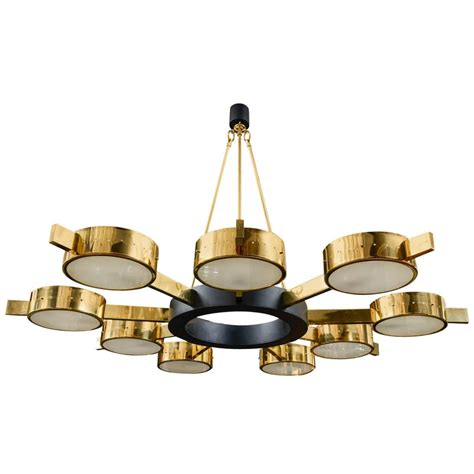 Large Circular Chandelier Large Nine Light Chandelier At 1stdibs