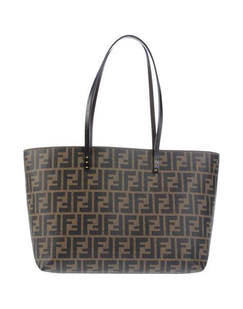 Fendi Brown Tweed Handbag by Fendi Handbag In Brown Khaki Lyst