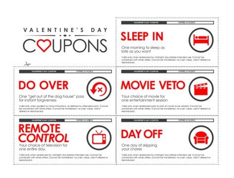 s coupons for him diy valentine s gifts for him