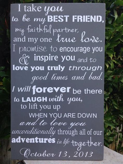 Modern 6th Anniversary Gift Wedding Vows Wood Sign 12 x