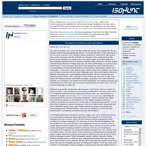 Bt Search Isohunt The Bittorrent P2p Search Engine 2015 Personal