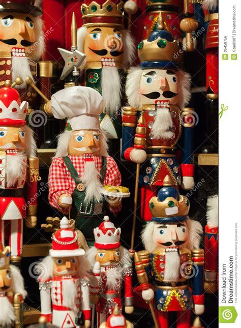 nutcrackers christmas figurines royalty  stock image