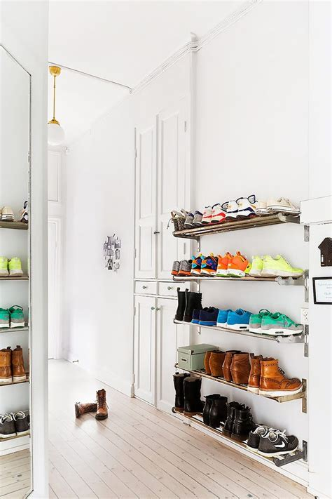 25 best ideas about wall mounted shoe rack on