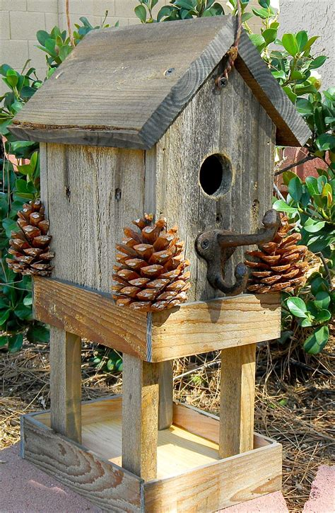 birdhouse rustic bird feeder 276