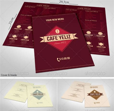 half fold menu template stylish food menu templates entheos