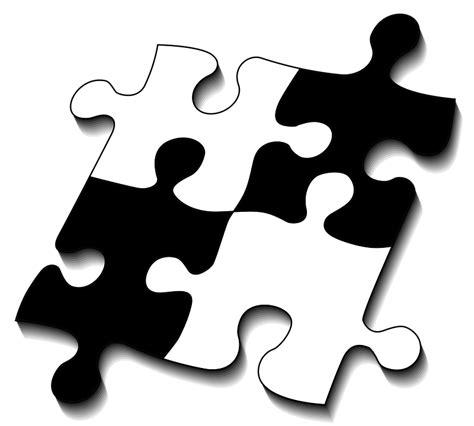 black and white printable jigsaw puzzles kostenlose illustration puzzle teile vier passen