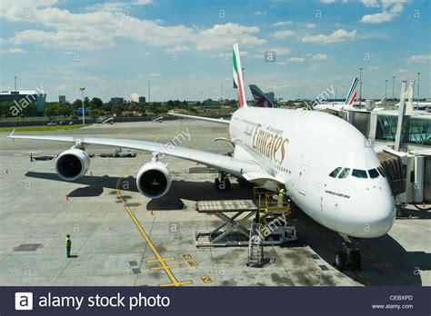 emirates johannesburg airbus a380 800 of emirates airline at o r tambo