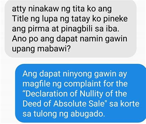 declaration  nullity   deed  absolute sale