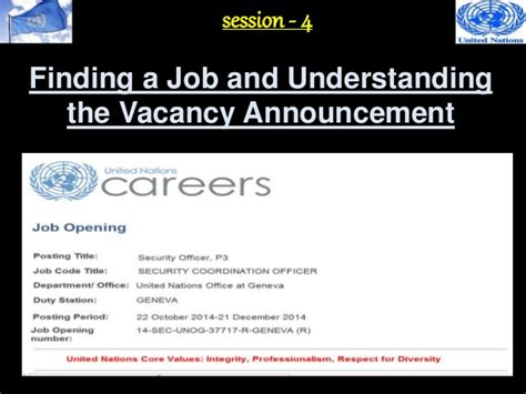 Sle Resume For Undp un vacancy winning a un 4 understanding the vacancy announcement