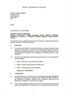 Uk Book Publishing Agreement Template Eloquens Book Publishing Contract Template