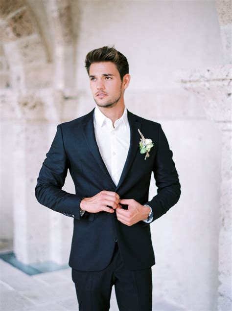 Black Suit At A Wedding   Hardon Clothes
