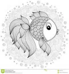 pattern coloring book vector cute cartoon fish stock vector image 66527220