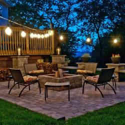 How To String Patio Lights Top Outdoor String Lights For The Holidays Teak Patio Furniture World